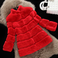 Free shipping new genuine real rex rabbit fur coat women's outwear for Lady thick Long genuine fur fashion Jacket top quality