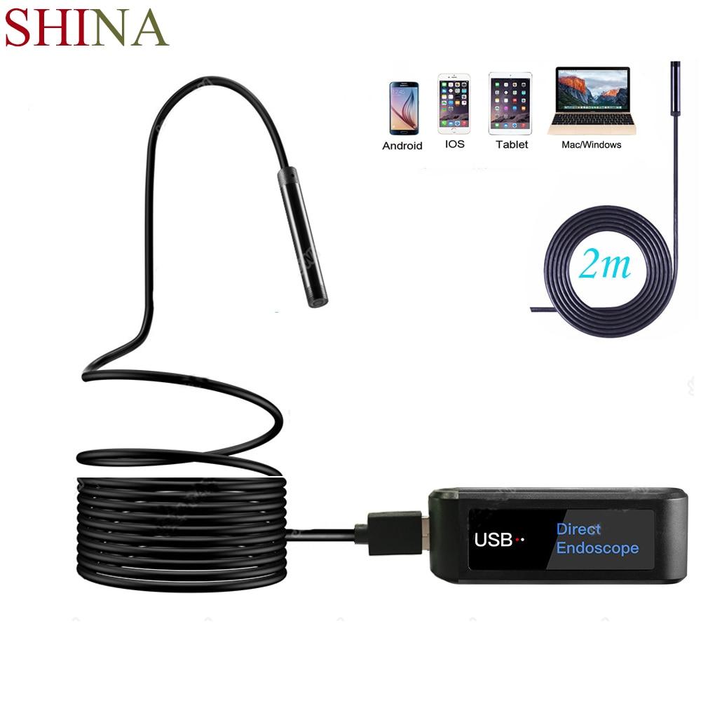 Shina Universal 5,5mm Hd 720 P Direkt Endoskop Kamera Schlange 2 Mt Draht Endoskop Für Android Iphone Gerät Geeignet Für Jedes Modell Moderate Kosten Messung Und Analyse Instrumente
