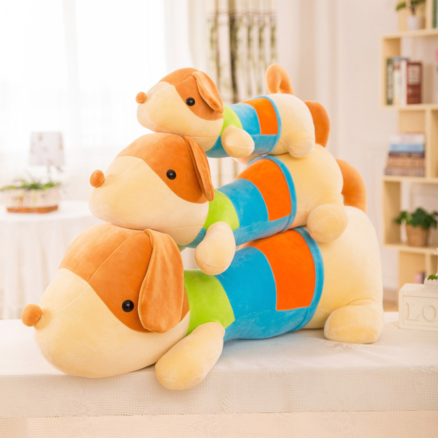 Large Giant Lying Plush Dog Pillow Toy Stuffed Animals Puppy Doll Toys Cartoon Stich Cushion Puppies Juguetes Perros 50T0260