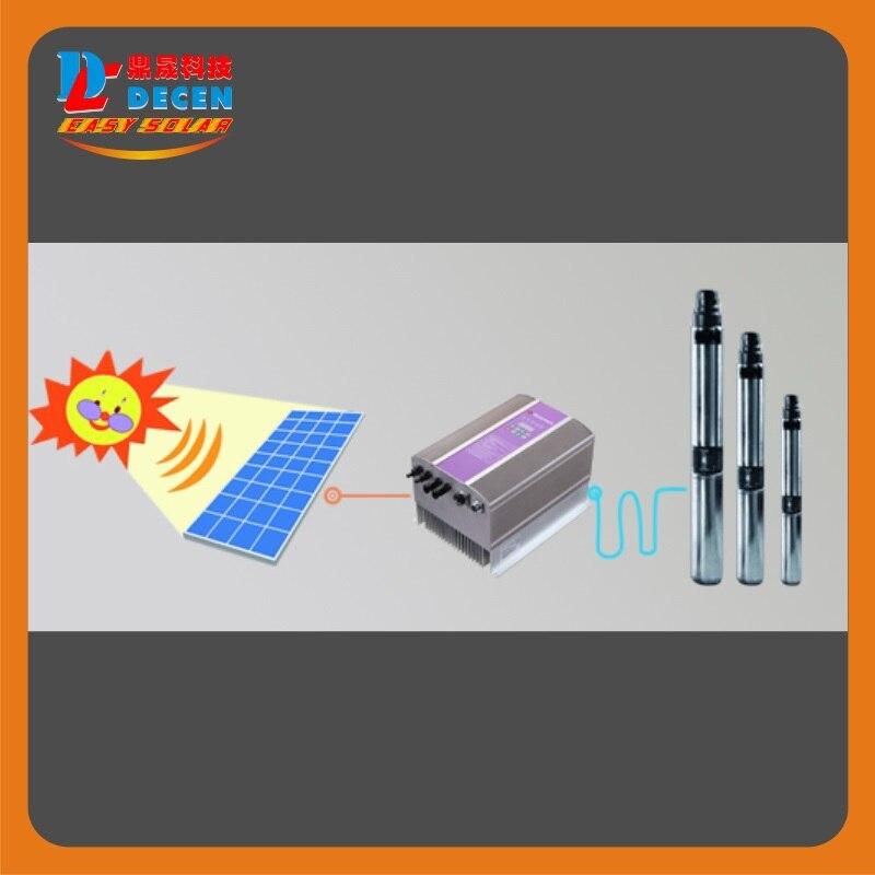 DECEN @ 4000 Watt Wasserpumpe + 5500 Watt PV Pump Inverter Für Solar pumpsystem Anpassung Wasser Kopf (50 32 mt), Täglich Wasserversorgung (60 100m3 - 4