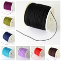 0.5mm; about 135m/roll Nylon Thread Cord for Jewelry Making DIY Accessories Necklace Bracelet, Black Red White Blue