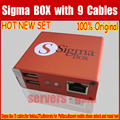 Original Latest Sigma Box mobile phone unlock and repair tool +9 cables Free Shipping
