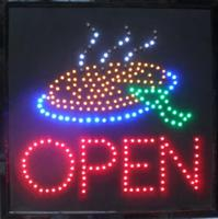 2017 Direct Selling Graphics 19x19 Inch indoor Ultra Bright Led Pizza Business Shop open Neon signboard
