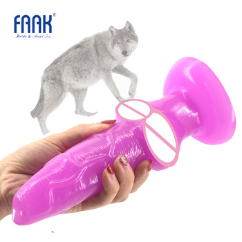 FAAK big Animal dog dildo knotted suction cup wolf penis sex toys for women cheap sex products anal plug lesbian flirt sex shop faak silicone strapon dildo with suction cup realistic penis sex toys for women lesbian masturbate flirt sex products adult game