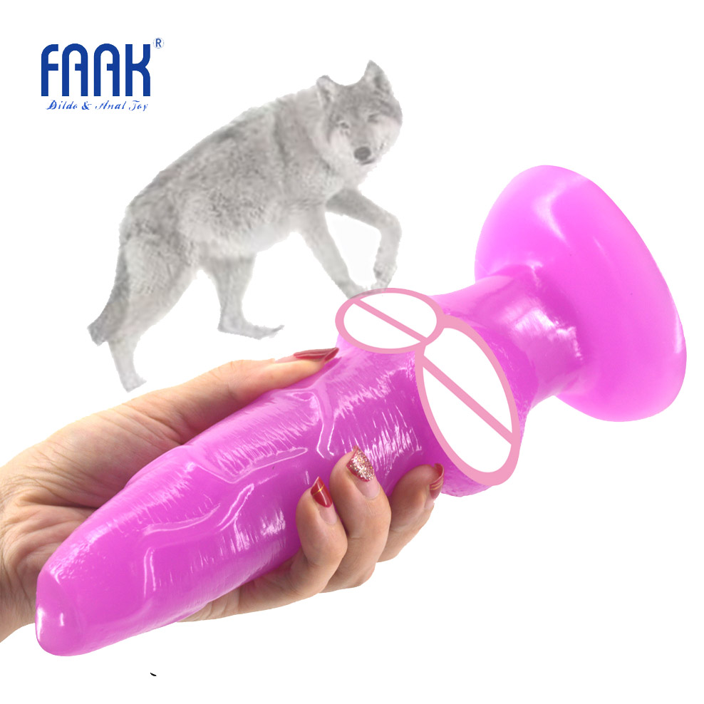 FAAK big Animal dog dildo with suction cup wolf penis sex toys for women cheap sex products anal plug lesbian flirt erotic shop faak long anal dildo butt plug suction cup chinese cabbage design dildo sex products anal plug penis sex toys women man sex shop