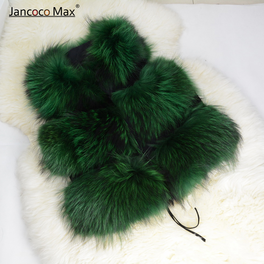 Natural Real Raccoon Fur Vest Women Winter Thick Warm Fur Gilet High Quality Fur Coat S1150 in Real Fur from Women 39 s Clothing