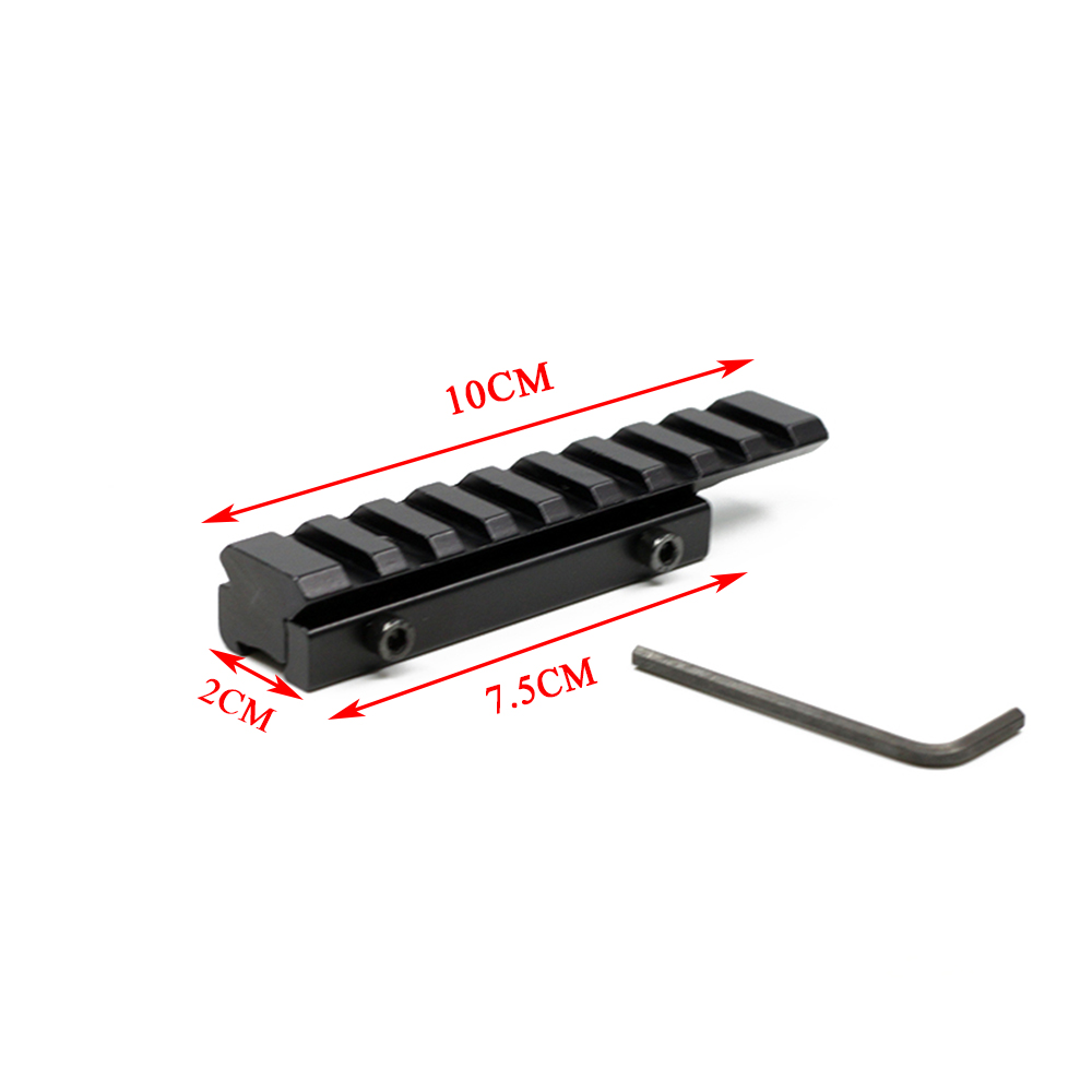 Tratical Rail Mount 11mm To 20mm Dovetail To Rail Mount Gun Rail For Hunting Shortgun Dovetail Weaver Picatinny Rail Adapter