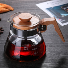 Tea Pots Coffee-Server-Tools V60 Glass Heat-Resistant Open Flame-Heating Can-Be-Directly