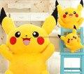 Frete grátis 25 cm brinquedo pokemon alta qualidade pikachu de pelúcia brinquedos de pelúcia para o presente das crianças, pikachu bicho de pelúcia