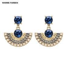 купить Warme Farben 925 Sterling Silver Women Drop Earrings Jewelry Bohe Crystal from SWAROVSKI Earring Zircon for Birthday Accessories дешево