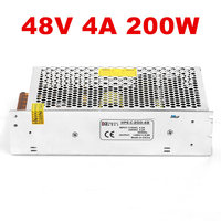 1PCS 48V Power Supply DC48V 4.2A 5.2A LED power LED driver AC DC 200W 250W 100 240V