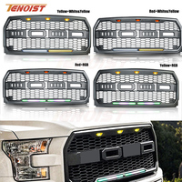 High Quality Black Front Racing ABS Plastic DRL RGB Grille For F150 Raptor 15 17