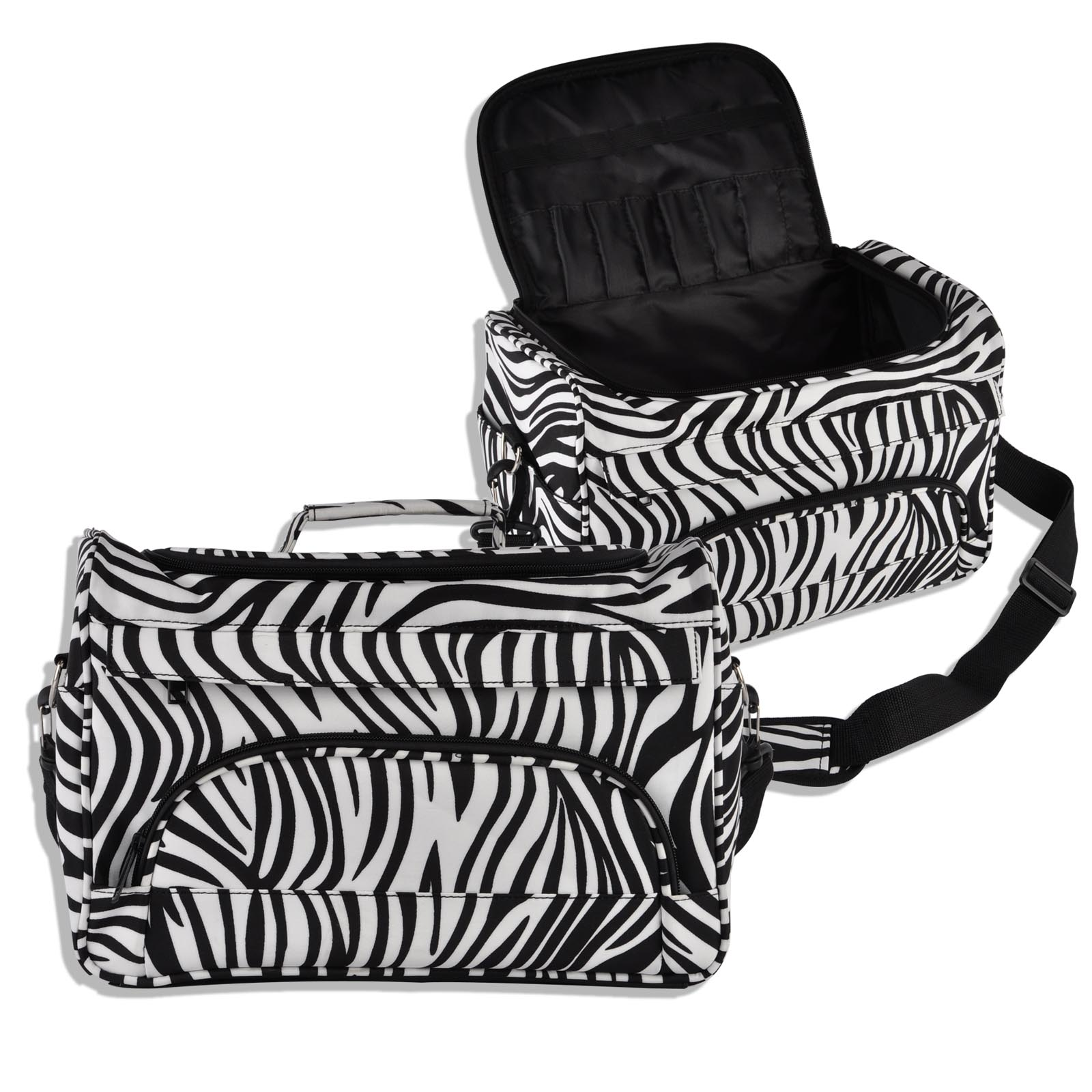Mayitr 1pc Professional Barber Hair Tool Bag High Quality Hairdressing Salon Zebra Portable Tool Case For Hair Tools Storage