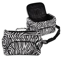 Mayitr 1pc Professional Barber Hair Tool Bag High Quality Hairdressing Salon Zebra Portable Tool Case For