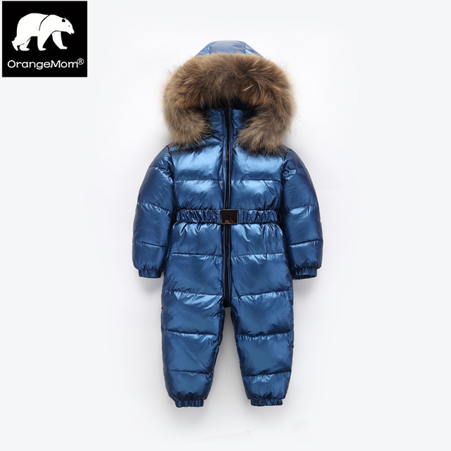 c8ee1738c715 Orangemom brand winter baby outerwear   coats warm one pieces jumpsuit 1-4Y kids  winter jacket coat