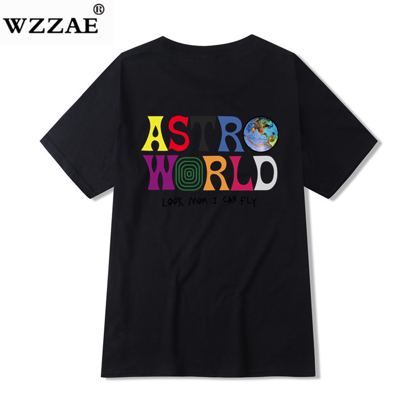2019 New Fashion Hip Hop T Shirt Men Women Travis Scotts ASTROWORLD Harajuku T-Shirts WISH YOU WERE HERE Letter Print Tees Tops 4