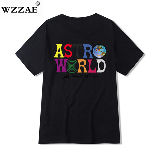 2019 New Fashion Hip Hop T Shirt Men Women Travis Scotts ASTROWORLD Harajuku T-Shirts WISH YOU WERE HERE Letter Print Tees Tops