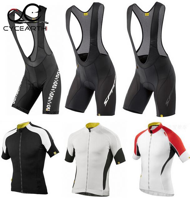 new MAVIC 2015 short sleeve cycling jersey bib shorts bicycle wear clothes clothing quick dry pants