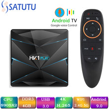 HK1 CHƠI Smart TV Box Android 9.0 Set Top Box 4 K Mi TV Boxs 4 GB 32 GB 64 GB 128 GB Quad Core chơi phương tiện Hỗ Trợ IPTV PK HK1 MAX M(China)
