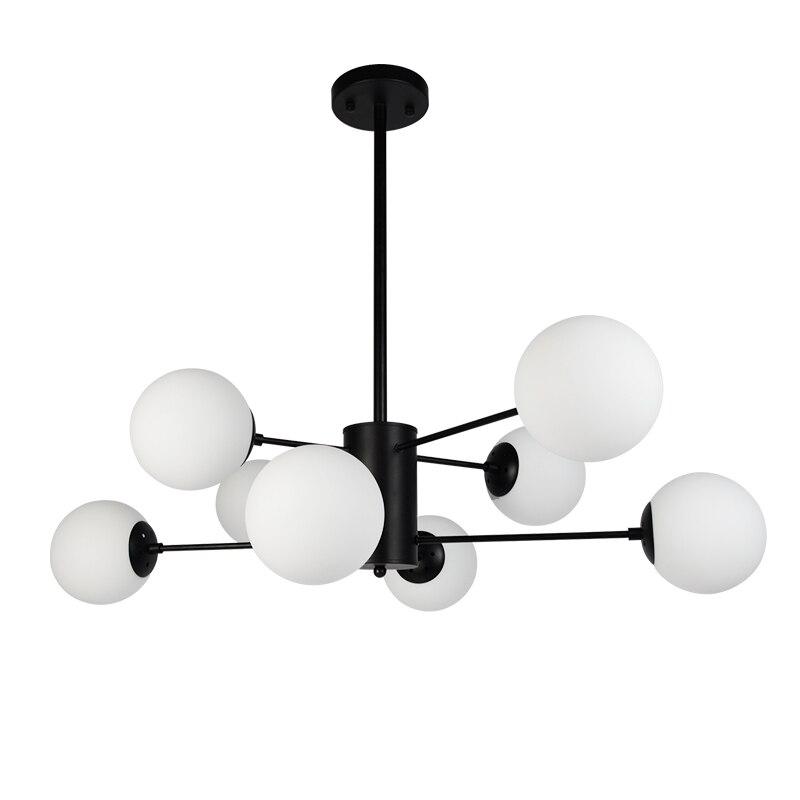 Horsten Nordic Creativo Magic Bean Sospensione Lights 6/8/12 Testa Lampada a Sospensione Sfera di Vetro Per Vivere sala Da Pranz