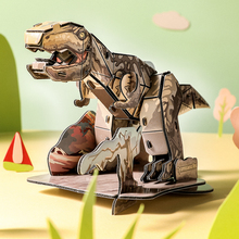 New 3D dinosaur puzzles For kids EPS foam paper puzzle Toys Animals DIY funny educational toy children learning Puzzle IQ