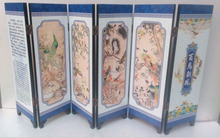 Delicate Chinese lacquer painting by hand *Birds Pay Homage *decorated fold screen