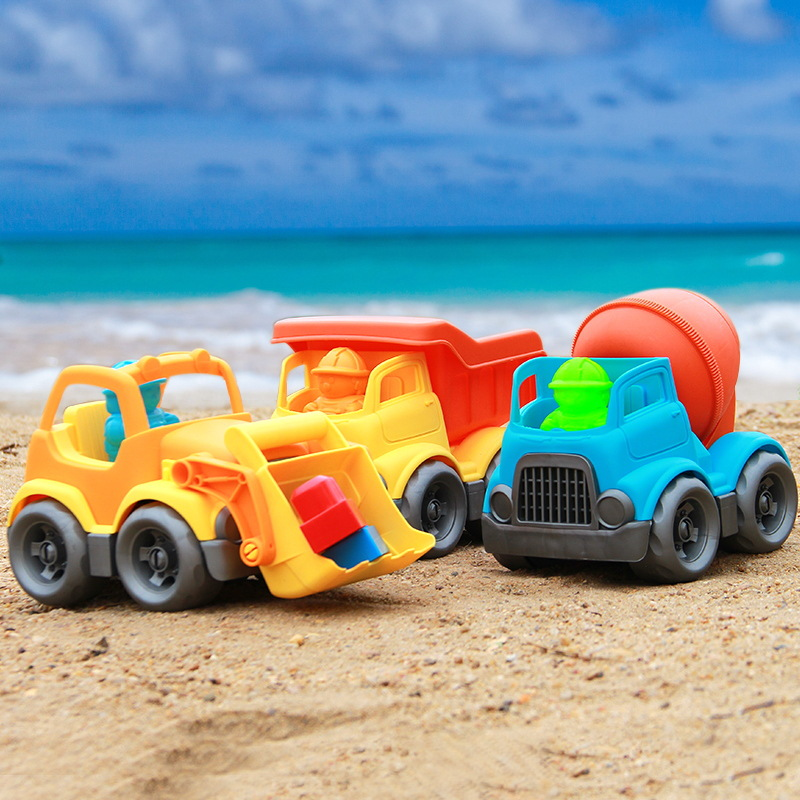 Baby speelgoed auto kinderen strand speelgoed auto zand strand speelgoed bouw voertuig techniek auto baggeren schop play zand tool 1