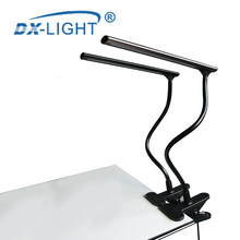 DC 5V LED Table Lamp USB Reading Lamp Black/Coffee Optional Book light LED Clip-on Lamp For Piano Laptop Book Reading(China)