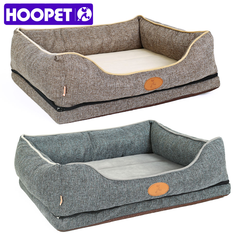 HOOPET Dog Bed Small Dog Detachable Cat Supplies Cushion Non-stick Hair Pet House