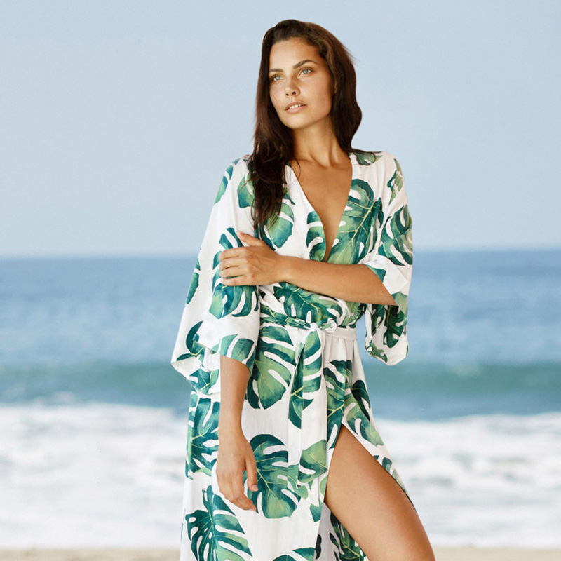 2019 Summer Long Beach Dress Cotton Tunics for Beach Women Swimsuit Cover up Woman Swimwear Beach Wear Dress-in Cover-Ups from Sports & Entertainment on Aliexpress.com | Alibaba Group