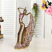 Elegant Home Decor Dancing Girl Figurines Craft Nordic Decoration Abstract Figures Wedding Gift