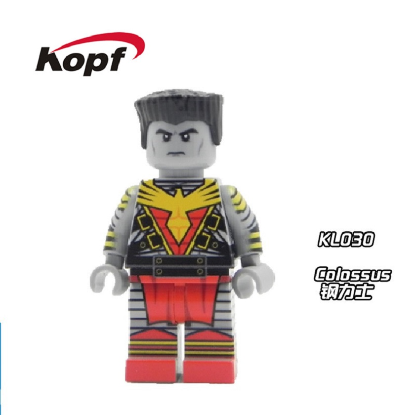 20Pcs Super Heroes Avengers Cute Figures Inhumans Royal Family Building Blocks Colossus Bricks Model Toys for children KL030