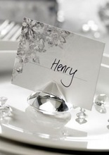 Free shipping 50pcs/lot shinning 40mm crystal glass diamond wedding guest name card holder wedding decoration
