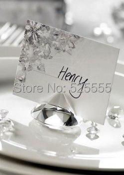 무료 배송 50pcs / lot 빛나는 40mm 크리스탈 유리 다이아몬드 결혼식 결혼식 손님 이름 카드 홀더 결혼식