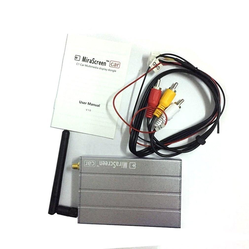 Dongle d'affichage multimédia de voiture de coquille d'alliage d'aluminium 1080 P boîte de miroir de WIFI Airplay Miracast GPS DLNA pour Android