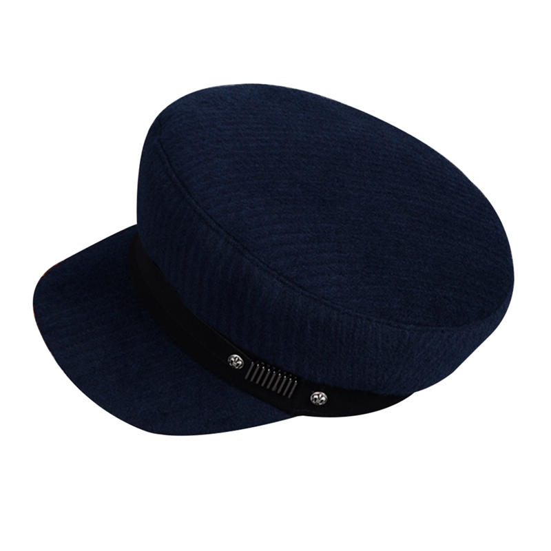 Vintage Hats For Women New Fashion Military Hat  Caps Female  Sun Hat Octagonal Cap(China)