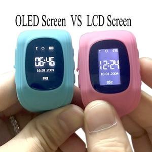 Image 5 - Anti Perso Q50 LCD OLED Bambino LBS GPS Tracker SOS Posizionamento di Monitoraggio Scherza Il Telefono SIM Smartwatch Intelligente Orologio Per IOS android
