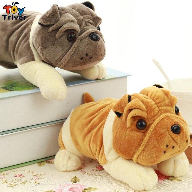 20cm Plush Bulldog Shar Pei Dog Toy Stuffed Animal Doll Pendant Baby
