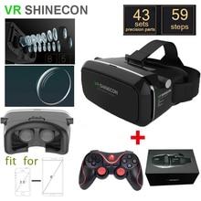 VR SHINECON Mokeรุ่นความจริงเสมือนแว่นตา3Dของg oogleกระดาษแข็งHD VRแว่นตา+ไร้สายบลูทูธgamepadกับแพคเกจ