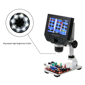 Image 5 - 600X デジタルビデオ顕微鏡 4.3 インチ液晶拡大鏡 microscopio 携帯電話メンテナンス QC/工業検査 + スタンド