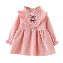 Dress For Girls Baby Girl Clothes Winter Gold Velvet Princess Dress Birthday Party Baby Clothes Cotton Baby Girl Dress