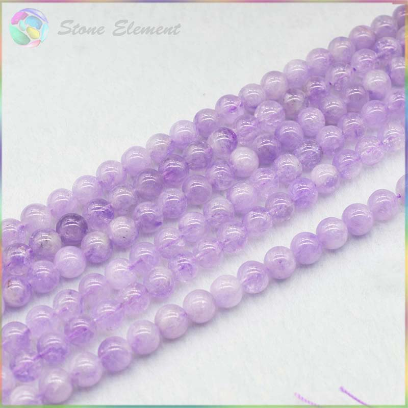 Natural Lavender Amethyst Loose Round Beads 4mm,6mm,8mm