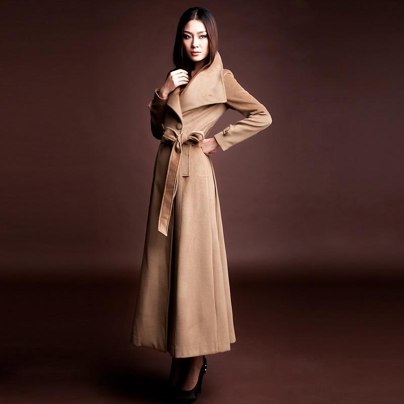 Manteau femme noir laine cachemire