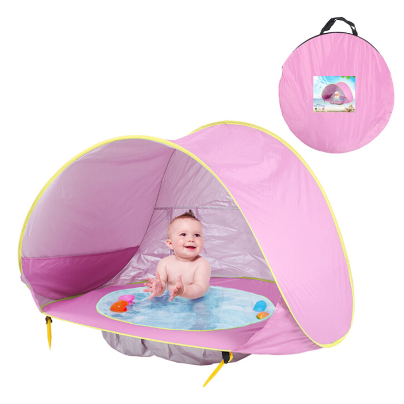 Portable Build Outdoor Sun Child Swimming Pool Play House Tent Toys Kids Baby Games Beach Tent For Baby Kids