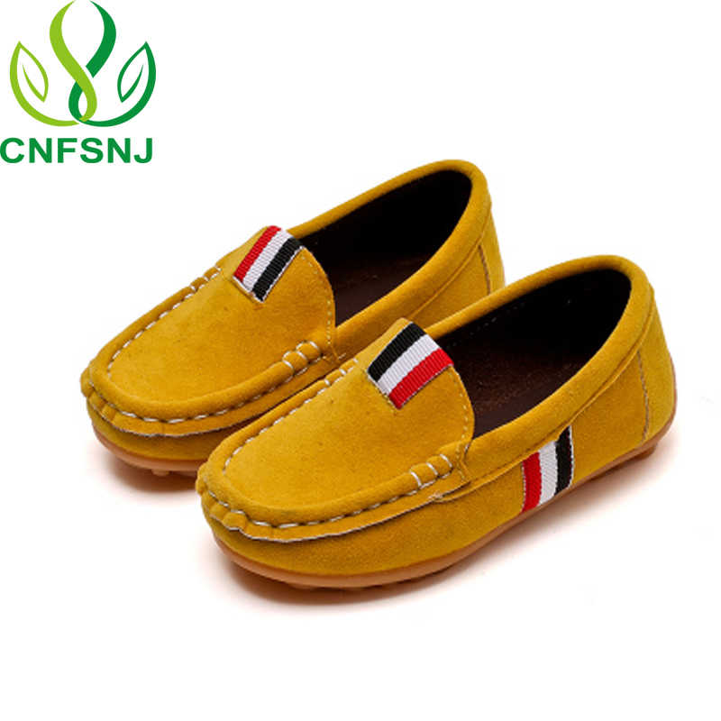 CNFSN 2017 Spring Autumn Kids Shoes For Boys Children's Casual Sneakers Loafers For Medium Boys Slip-on Fashion Soft size 21-36