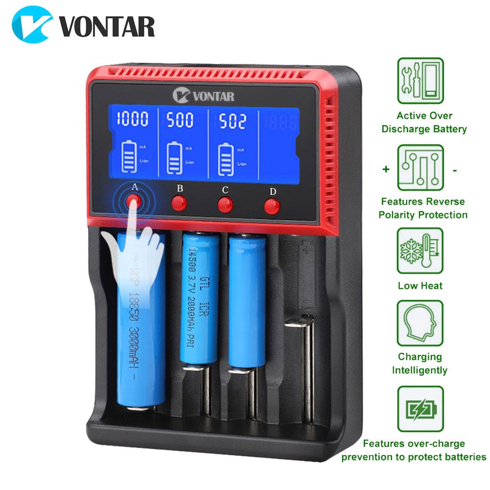 VONTAR 18650 USB Batterie Ladegerät Lade für 26650 14500 22650 18650 AA AAA lithium NiMH Batterien 3,7 v 12 v 24 v PK Lii-500 Sc4