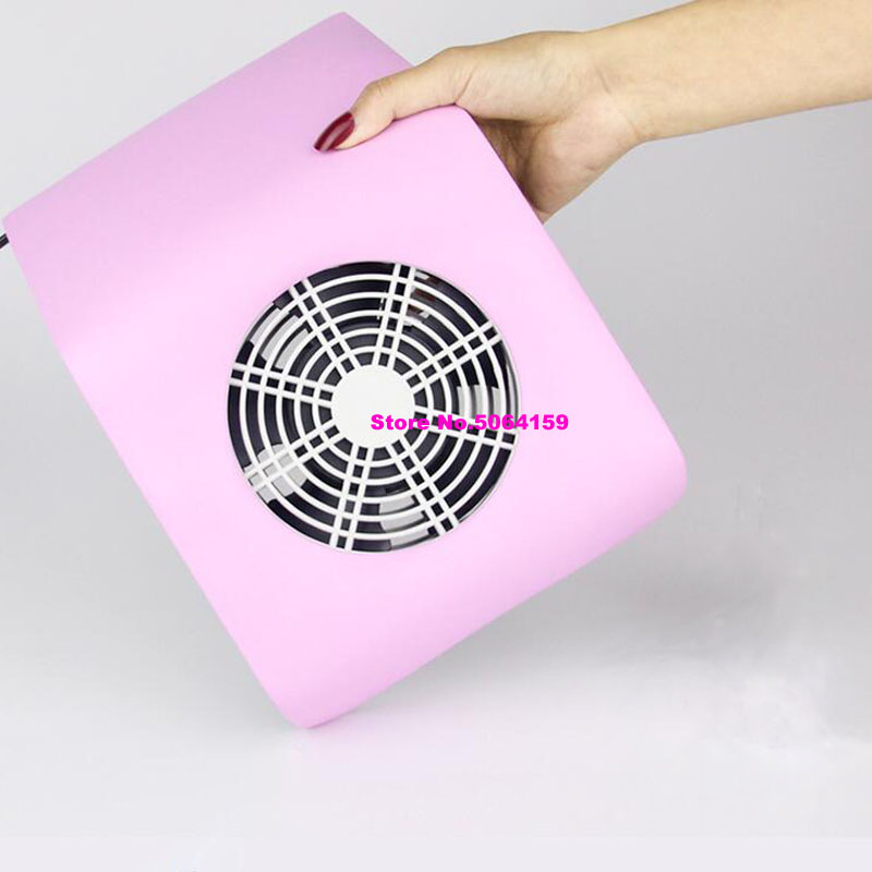 Профессиональный пылеуловитель для ногтей, вентилятор, пылесос, маникюрный аппарат, инструменты, мешок для сбора пыли, инструменты для маникюра и салона - Цвет: Розовый