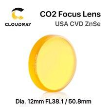 """Cloudray USA CVD ZnSe soczewka skupiająca Dia. 12mm FL 38.1/50.8mm 1.5 """"/2"""" dla CO2 maszyna do laserowego cięcia i grawerowania darmowa wysyłka"""