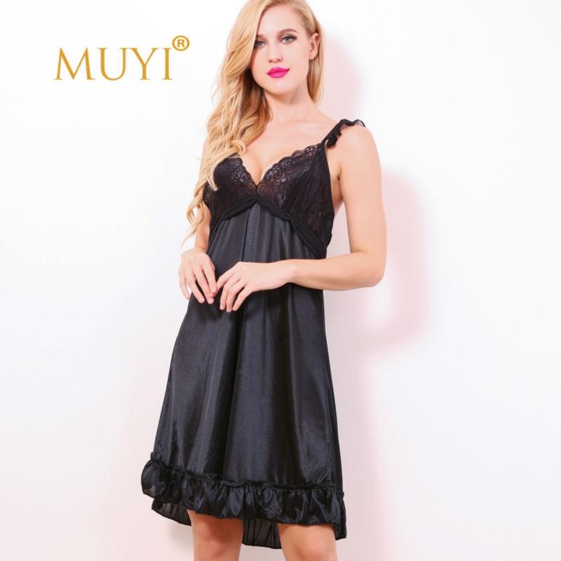 Sexy Nightwear Sleepwear Women Lace Nightgowns Nuisette Femme Sexy
