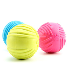 1 Piece Multi-colors Puppy TPR Chew Toys Molars Rubber Sounding Ball Palying For Teeth Training Pet Dog Toys